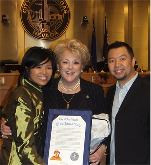 City of Las Vegas Proclamation to CNY in the Desert with Mayor Carolyn Goodman