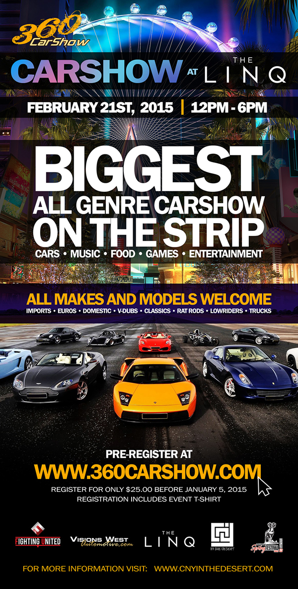 360 Car Show at The LINQ - CNY in the Desert